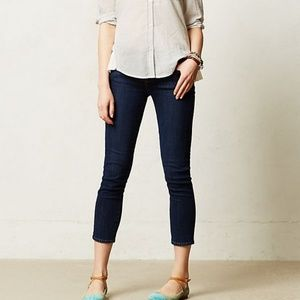 Paige Kylie Crop Ankle Jeans Cuffed Straight Leg S